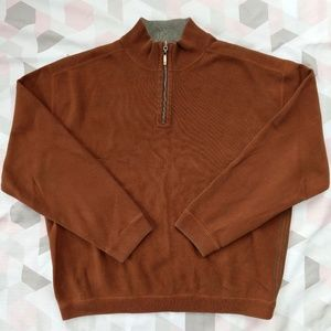Tommy Bahama Brown 1/4 Zip Pullover Sweater XL